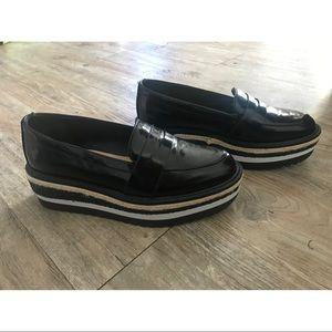 Aldo Black Platform Loafers